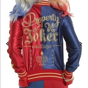 Suicide squad gold embroidered jacket